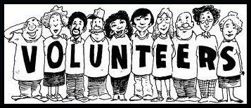 Cartoon of Volunteers all shapes and sizes