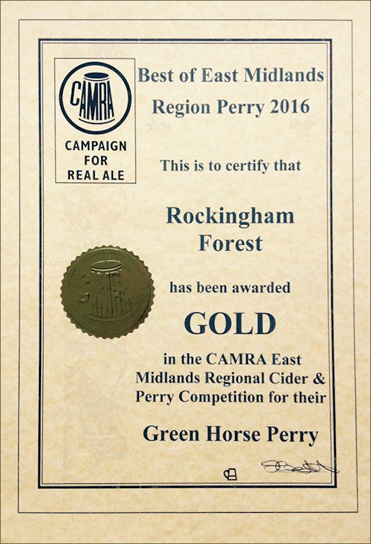 Gold Certificate for Cider