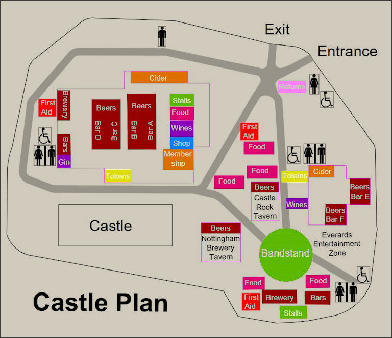 Groundplan of site